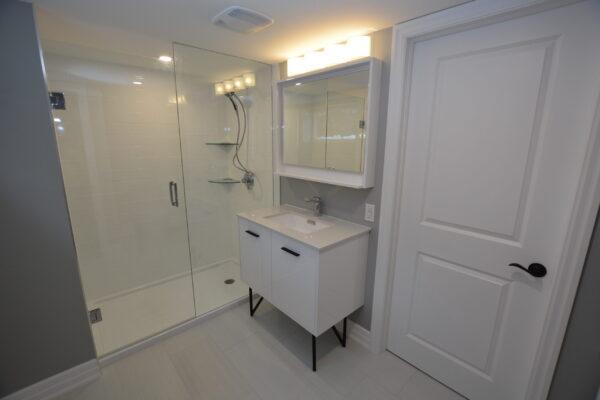 Bathroom Renovation - Basement Bathroom - North York - Toronto - GTA