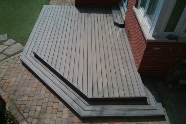 Deck Renovation - - Composite PVC deck - Toronto - GTA
