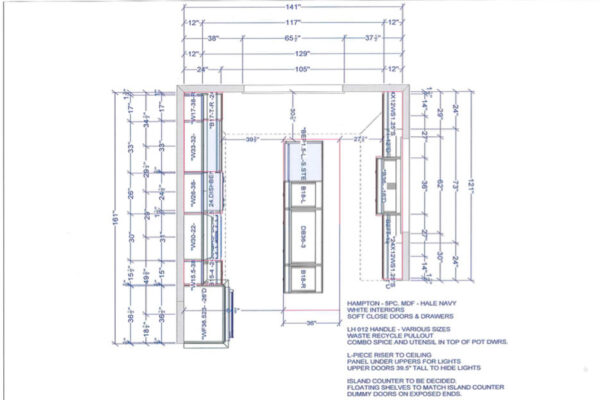 Design Build Custom Project - Custom Cabinetry layout - Plans