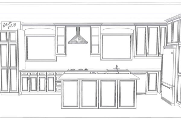 Design Build Custom Project - Custom Kitchen Cabinetry with Island CAD - 1