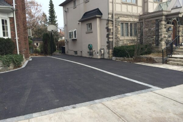 Driveway Renovation - Asphalt with interlock pavers - Forest Hill - Toronto - GTA
