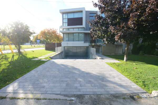Driveway Renovation - Unilock Artline interlocking paving stones - Bedford Park - Toronto - GTA