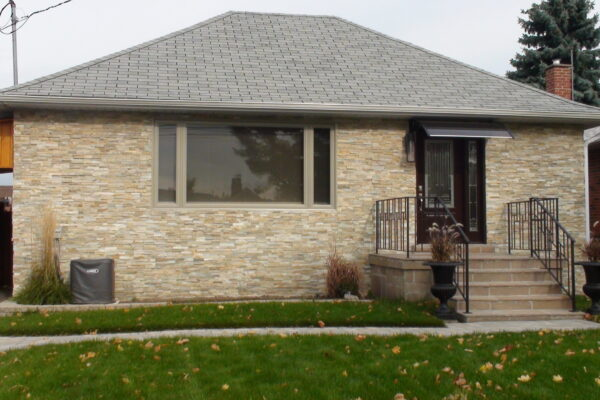 Exterior Renovation - Stone facings - Roof - Window - Porch - Railing - Scarborough - Tornoto
