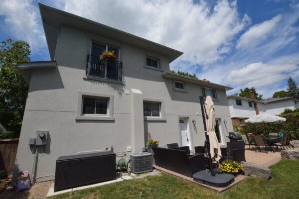 Exterior Renovation -Stucco - Addition - Juliette Balcony -Markham- Thornhill - Toronto-GTA