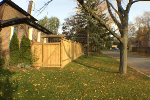 Fence Renovation - Large fence - pressure treated lumber - Richmond Hill - Toronto - GTA