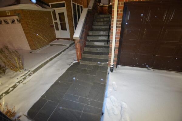 Heated Porch Renovation - Heated walkway - Thornhill - Toronto - GTA