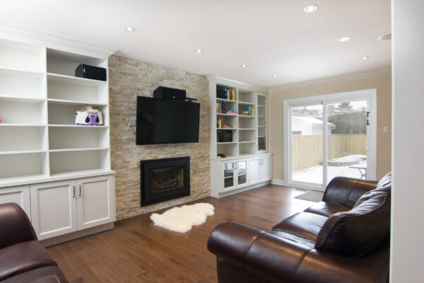 Interior Renovation - Fireplace - Custom Cabinetry - Richmond Hill - Toronto - GTA