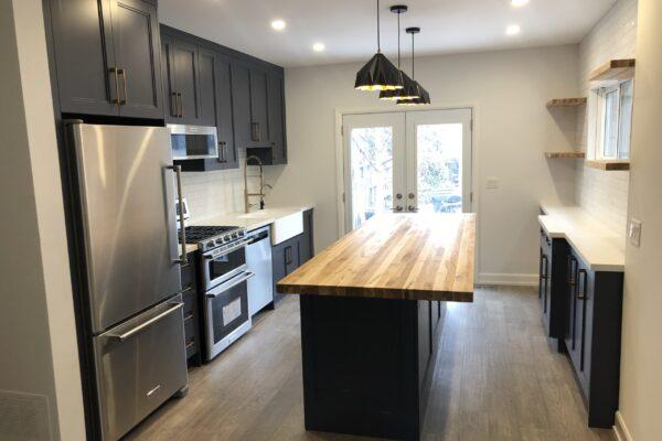 Kitchen Renovation - Custom Kitchen - Butchers Block Island - York - Toronto - GTA