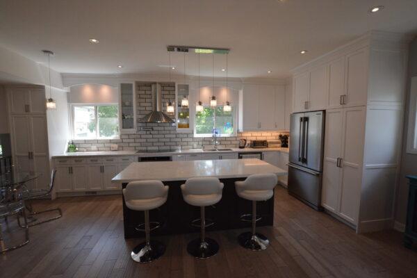 Kitchen Renovation - Custom Kitchen - Custom Painted MDF Cabintry - Markham - Thornhill - Toronto - GTA