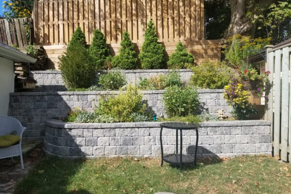 Landscaping -Retaining wall Planters - hardscape -Toronto - GTA