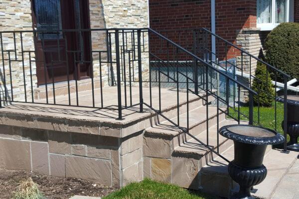 Porch Renovation - Banas Stone - Custom Wrought Iron Railings - Scarborough - Toronto - GTA