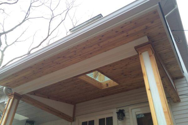 Siding and Aluminum Renovation - Cedar soffits and Aluminum - Beaches - Toronto - GTA