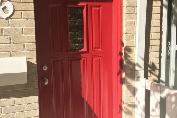 Window door renovation - New Door - Red Door - Toronto - GTA